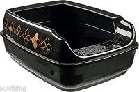 Katzentoilette Delio schwarz/bronze mit Rand Katzen Toilette Katzenklo Trixie