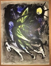 Marc Chagall, The Angel, Original Stone Lithograph,1960 Mourlot