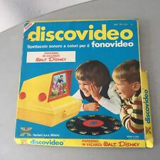 VINTAGE 70's# DISNEY HARBERT DISCOVIDEO DISCO VIDEO#PAPERINO IN  VACANZA#NIB