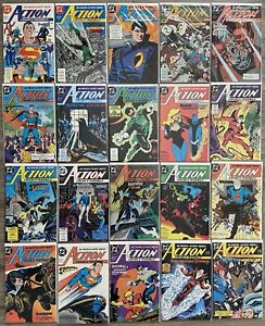 DC Comics Lot - Superman Action Comics Weekly #'s 601 - 620 , Mad Dog, Nightwing