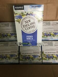 Keurig New England Coffee French Vanilla Medium Roast K-Cup Pods 72 Count 07/22