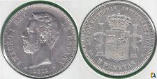 AMADEO I. 5 PESETAS DE 1871 (*74).