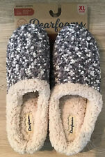 Dearfoams $28 Knit Clog Memory Foam Slippers Women's XL 11-12 Sleet Gray NWT
