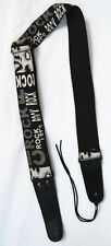 Guitar Strap Pattern Design Adjustable Leather Ends thick fabric