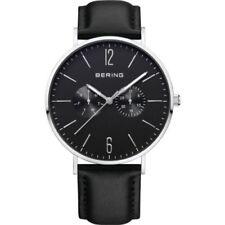 Relojes de pulsera Classic de cuero de día y fecha