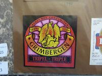 VINTAGE BELGIUM BEER LABEL. MAES BREWERY - GRIMBERGEN TRIPLE