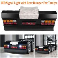 LESU LED Square Signal Light with Rear Bumper For 1/14 Tamiya Man Scania RC Car