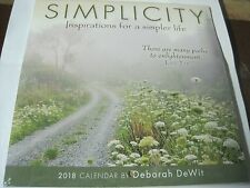 SIMPLICITY INSPIRATIONS DEBORAH DeWITT 2018 MINI CALENDAR 7 x 7, SHRINK WRAPPED