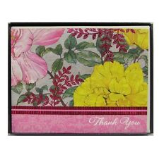 Hallmark Floral Flowers Kitts Garden Thank You Cards With Envelopes Blank 10 Ct