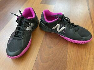 Women's NEW BALANCE 1006 Black/Pink Zing Tennis Shoes US Size 8 Wide - NWOB