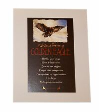 "Advice from a Golden Eagle Inspirational 8"" x 10"" Matted Picture ready to hang"