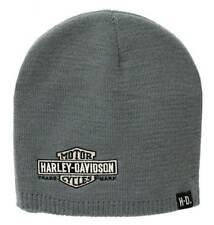 Harley-Davidson Mens Embroidered Elongated Bar & Shield Knit Beanie, KNCUS022480