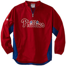 (YOUTH SMALL 6-8) Boys Majestic MLB Philadelphia Phillies Lightweight Jacket