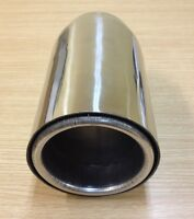 """UNIVERSAL FIT ROUND 4/""""STAINLESS STEEL EXHAUST MUFFLER TIP PIPE RESONATED MT-2405"""