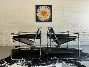 ICONIC Mid Century MODERN WASSILY Lounge Chairs, a Pair