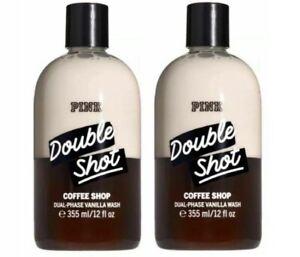 Victoria's Secret PINK Double Shot Coffee Shop Dual Phase Vanilla Wash x2