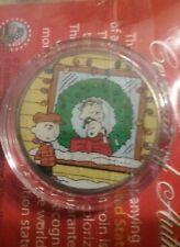 "Peanuts ""Snoopy Xmas w/Linus & Charlie"" JFK Half Dollar U.S. Coin *Licensed*"