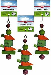 Kaytee Superpet Perfect Chew Rabbit Super Pet Small Animal Toy Lot Of 3 Pieces