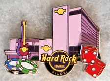 HARD ROCK HOTEL BILOXI BUILDING FACADE DICE POKER CHIPS GUITAR PIN # 96371