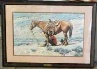 Tucker Smith, important Western artist, signed print, 16 x 25