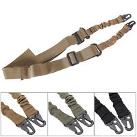 Hunting 2 Two Point Rifle Sling Bungee Tactical Shotgun Strap-Outdoor Adjustable