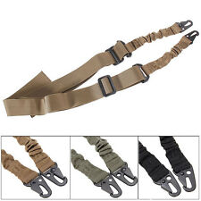 Adjustable Hunting 2 Two Point Rifle Sling Bungee Tactical Shotgun Strap-Ou D4Z6