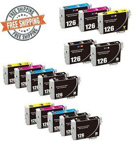 Reman Epson 126 Black & Color Ink Cartridges WorkForce 60 435 635 WF3520 WF3540