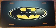 BATMAN  LOGO BLACK CUSTOM LICENSE PLATE CAR MOVIE EMBLEM