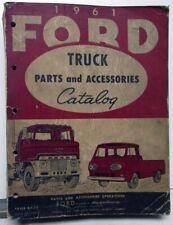 1961 61 Ford Truck Parts Catalog Manual F 100 250 350 Pickup Diesel HD Tilt Cab