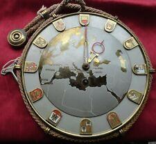 Vintage Schatz Sohne Europe Map 8 Day Key Wind Rope Wall Clock
