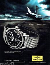 PUBLICITE ADVERTISING 076  2010  Breitling  montre superocean Heritage 46