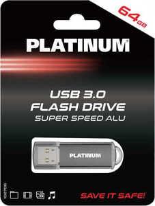 PLATINUM USB-Stick, 3.0, 64GB, Schwarz/Grau, TOP, NEU