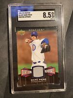 2006 Upper Deck Ovation Mark Prior Chicago Cubs SGC Graded 8.5 NM MT+ Game Used