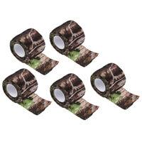 5pcs Ruban Bande Camouflage Furtif Elastique Équipement pour Camping Chasse