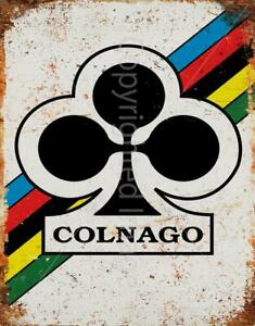 COLNAGO RETRO VINTAGE CYCLING METAL TIN SIGN POSTER WALL PLAQUE