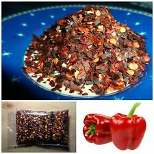Sweet Red Pepper Dried Flakes - 100% Natural Dried Pepper - Extra Sweet!