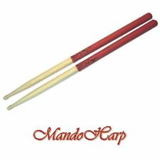 'GRIPS' Drum Sticks - Hickory 7A Latex Hand Grips NEW