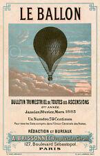 Le Ballon, Paris by Vintage Reproduction Hot Air Balloon Print Poster 19x13