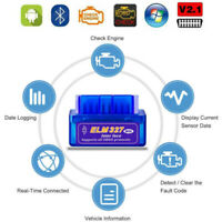 Super Mini Bluetooth Adapter OBD2 Code Reader OBDII ELM327 v2.1 Auto Scanner