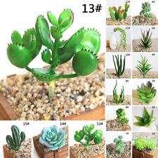Fake Artificial Plastic Succulent Plant Cactus Echeveria Flower Home Decorative