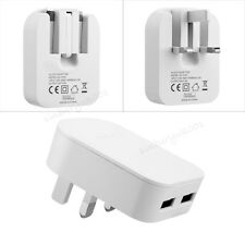 2a Dual USB Mains 3 Pin Plug Adaptor Wall Charger for Sumsang LG HTC Tablets UK Black Huawei Nexus 6p 2015