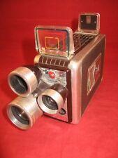 rmk99 Vintage Kodak Brownie 8mm Movie Camera /w  3 Turret Lenses, f1.9