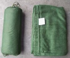 NEW British Army Issue Green Micro-Fleece Combat Towel With Stuff Bag - MEDIUM