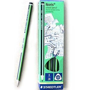 Staedtler Noris School Pencils 2B Black Lead Triangular Pencils Set of 12 Pcs