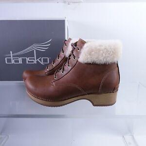 Size 7.5-8 Women's EUR 38 Dansko Bailee Lace Up Booties Shearling 9429-071600