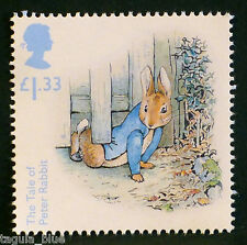 "Beatrix Potter ""The Tale of Peter Rabbit"" illustrated on 2016 stamp - U/M"