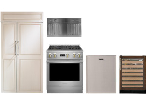 """Monogram Panel Ready Package with 30"""" Dual Fuel Range & 42"""" Refrigerator"""