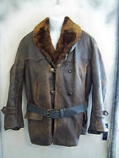 VINTAGE 30's WW2 HEAVY HORSHIDE LEATHER BARNSTORMER FLYING JACKET SIZE L / XL