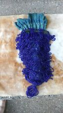 Vintage Flapper Bag Blue Beaded Bag Purse