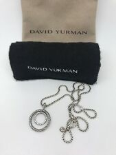David Yurman Mobile Small Pave Pendant Necklace Diamonds Sterling